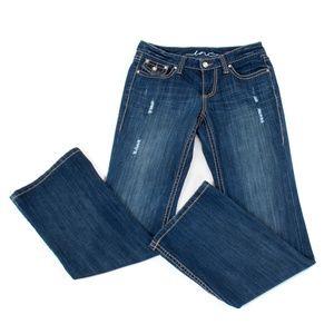 INC Rhinestone Embellished Boot Cut Jeans - Size 4